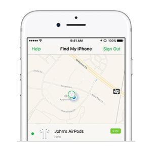 پیدا کردن دستگاه دزدیده شده اپل